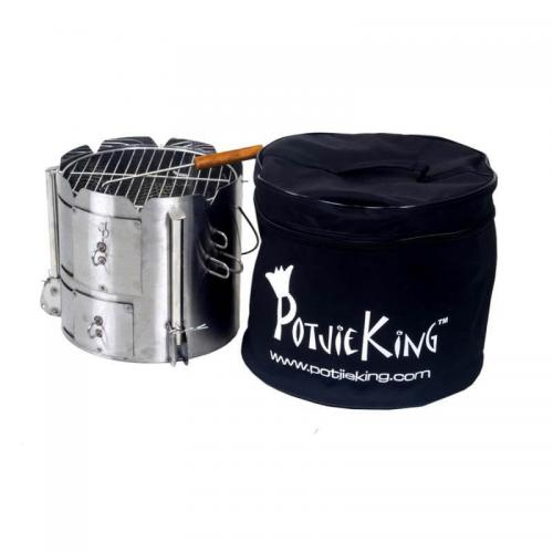PotjieKing™ - stainless steel portable braai and canvas carry bag
