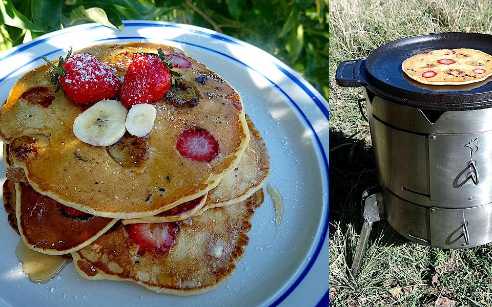 Strawberry & Banana Pancakes