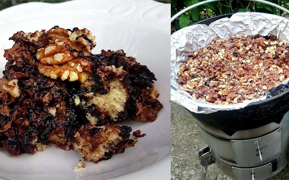chocolate Vanilla Mud Cake