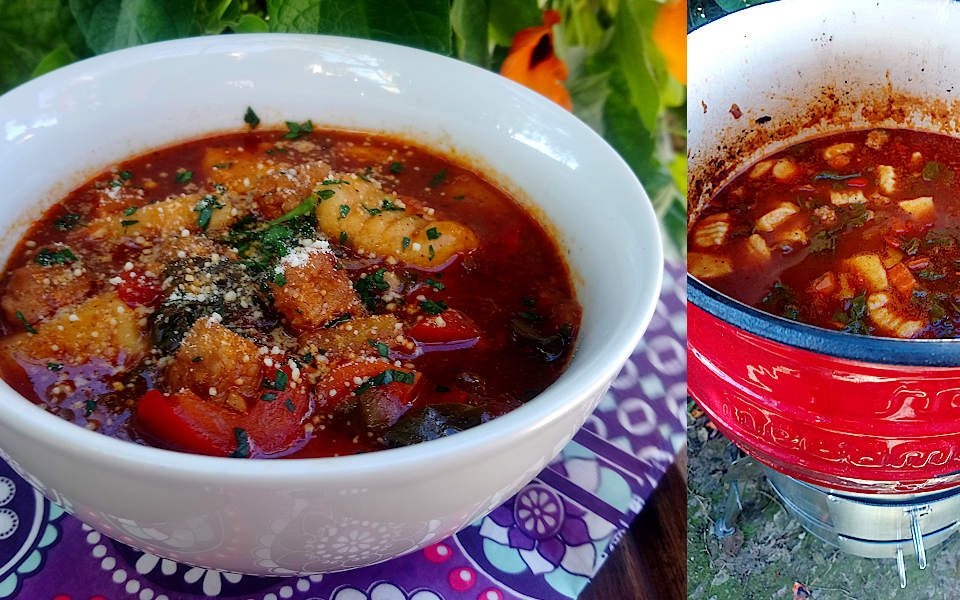 Pork & Potato Gnocci Potjie Soup